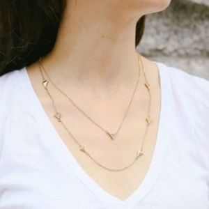 [Chloe + Isabel]NWOT Gold Double Triangle Necklace